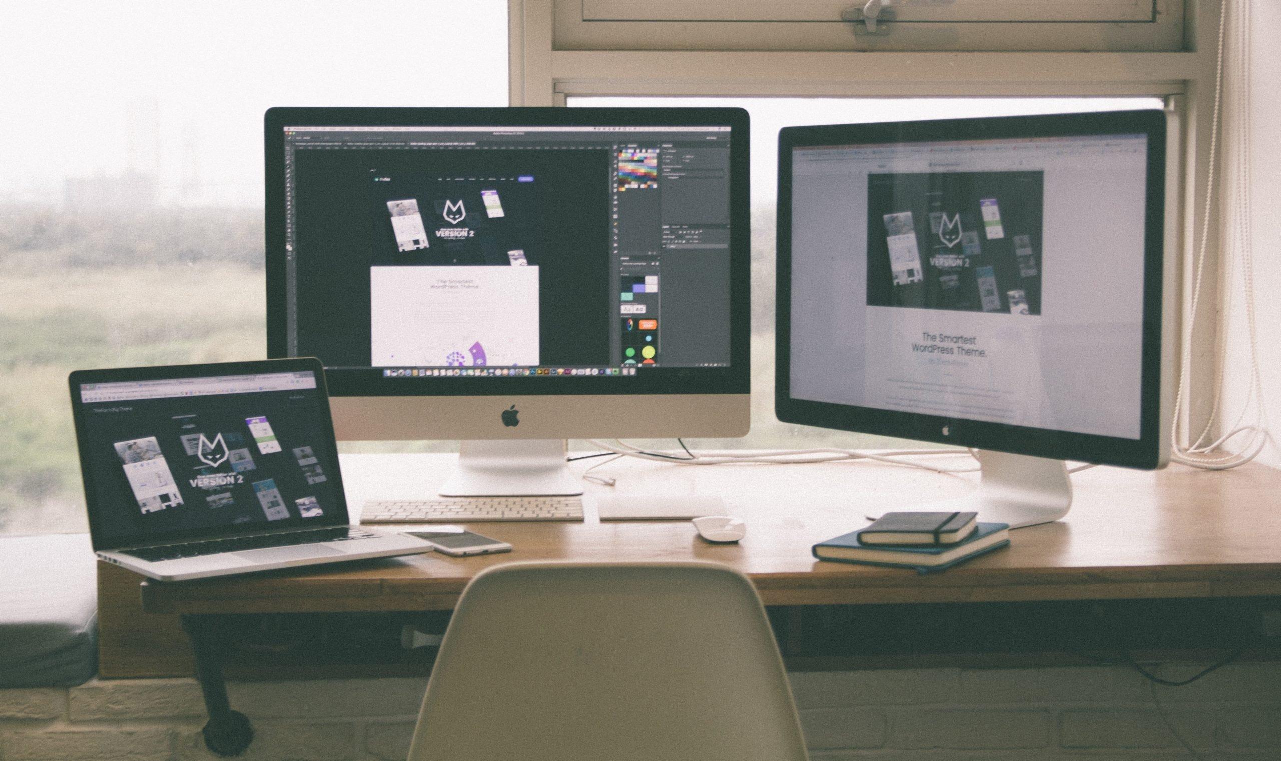 web design on computers