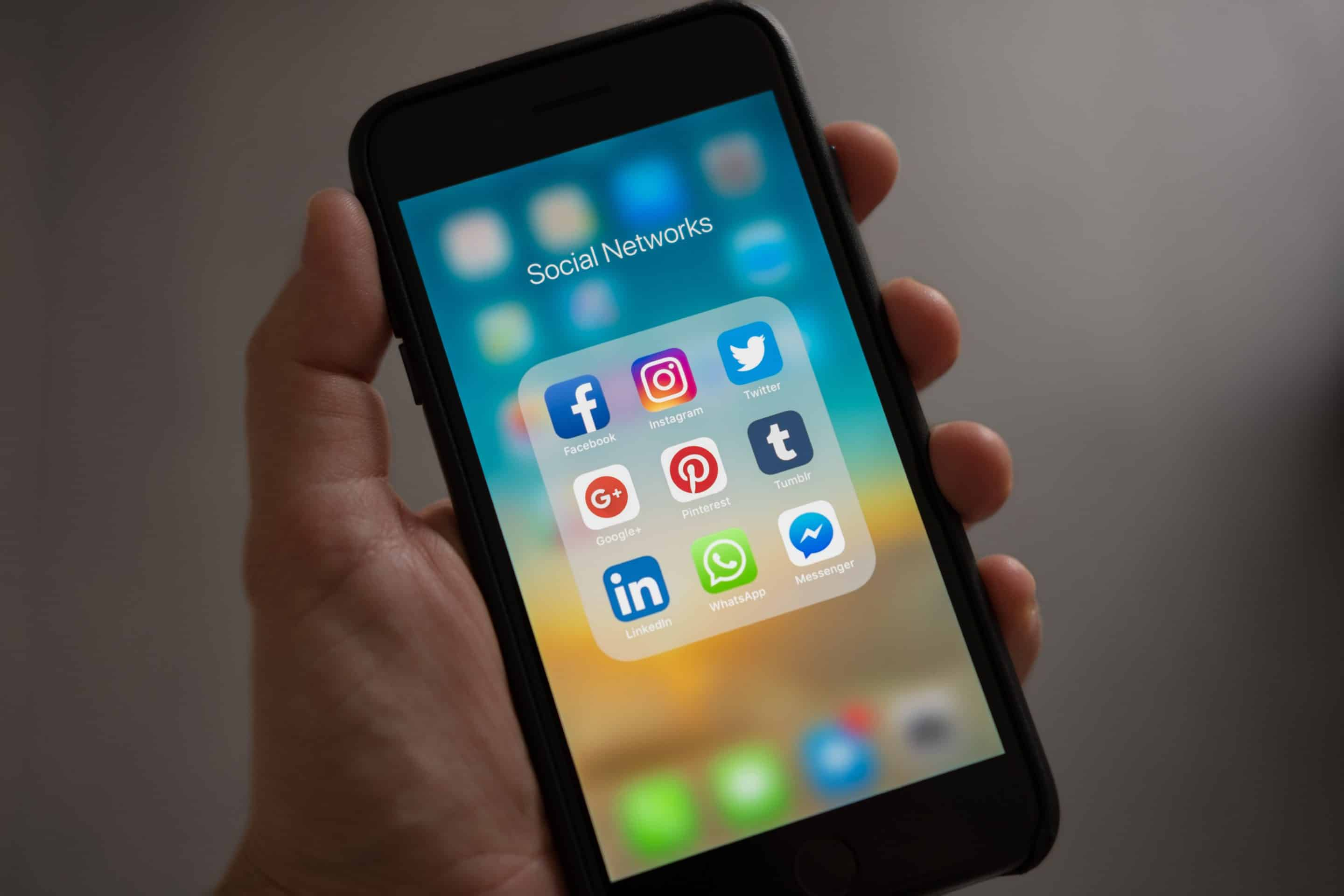 social media applications on a smartphone