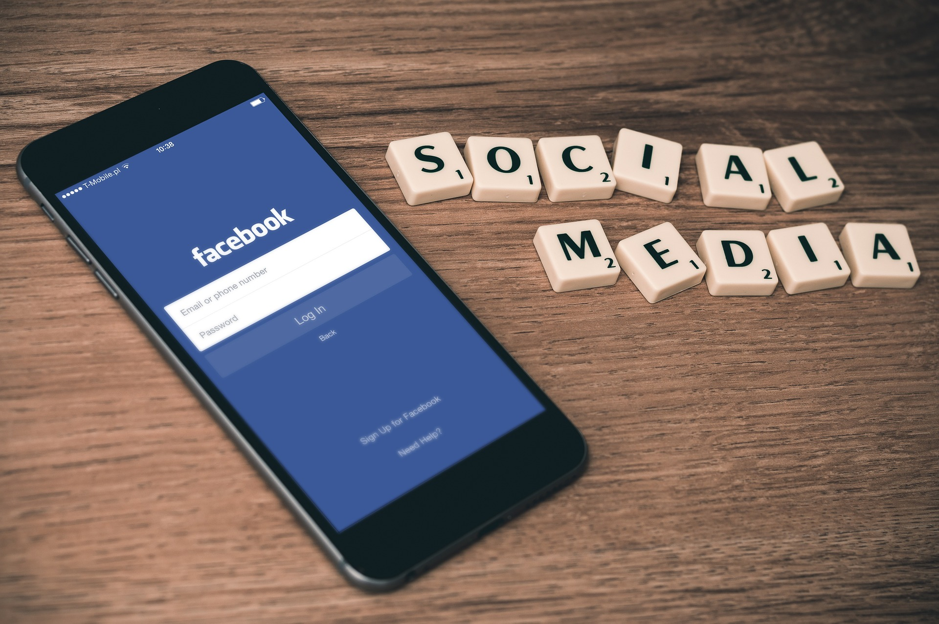 Facebook social media letters
