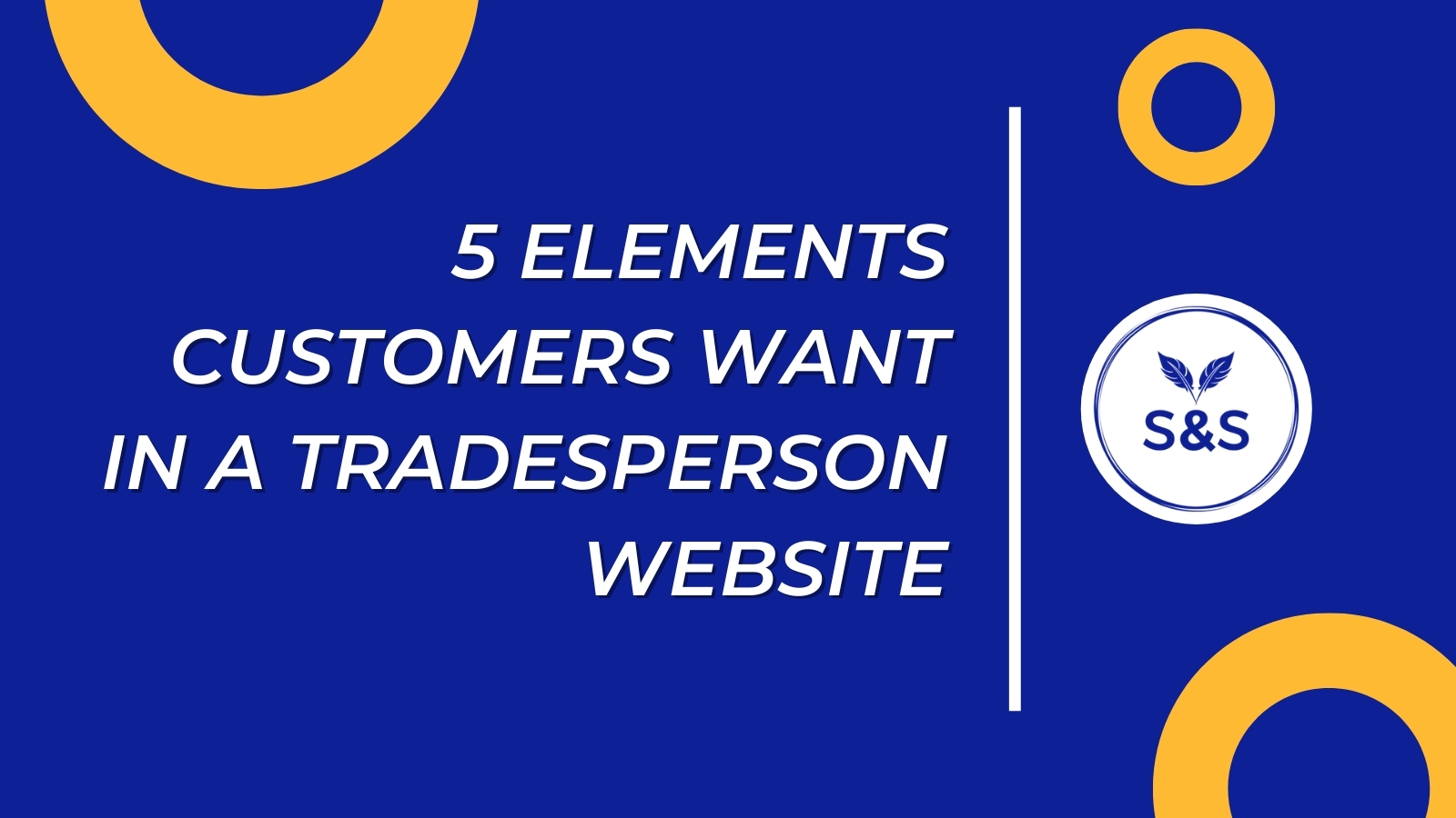 5 elements customers want in a tradesperson website header